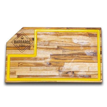 Tábua de Carne Bárbaros BBQ com Amarelo