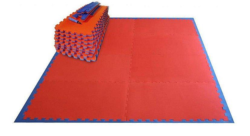 Kit Tatame Residencial Pequeno Prime Esportes - Azul com Vermelho