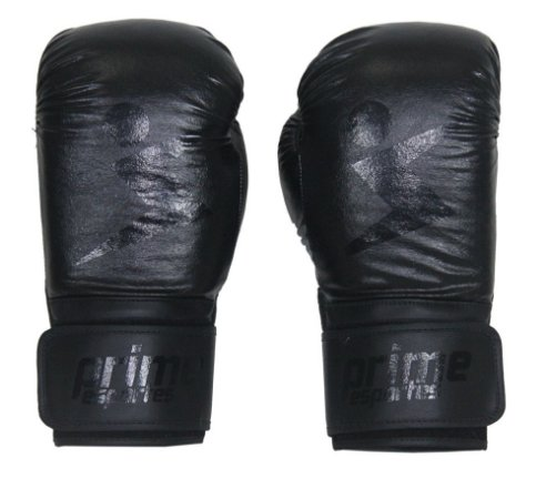 Luva de Boxe Prime Esportes - Knockout Preta