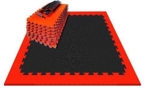 Kit Tatame Residencial Grande Prime Esportes - Preto com Vermelho