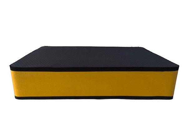 Step Grande com 10cm Amarelo/Preto