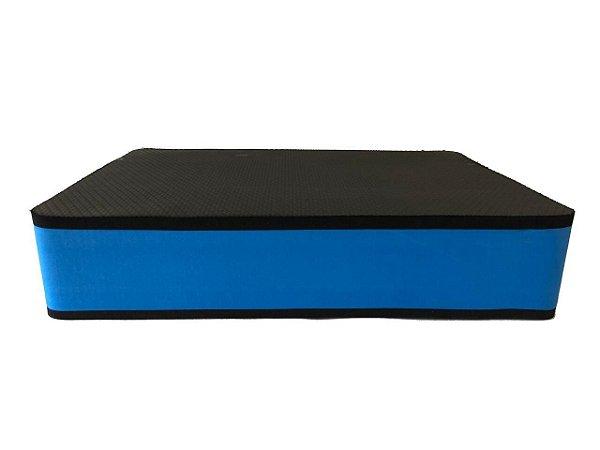Step Grande com 10cm Azul/Preto