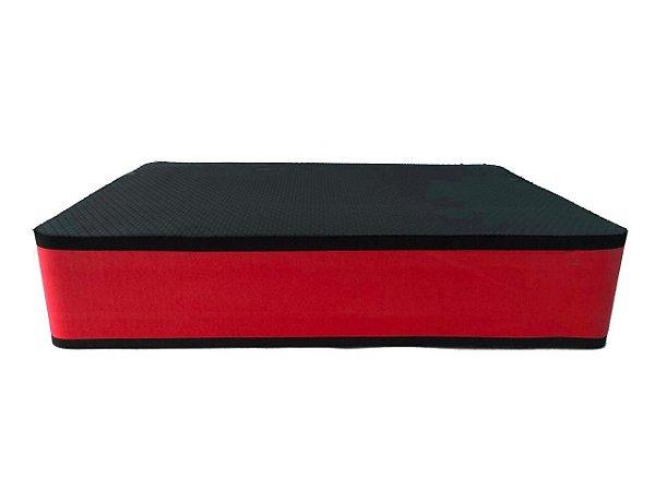 Step Grande com 10cm Vermelho/Preto