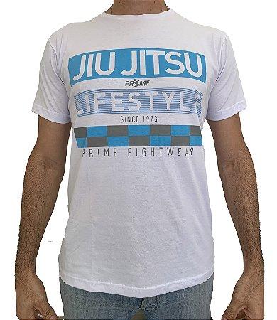 Camiseta T-Shirt JiuJitsu Life Style Branca