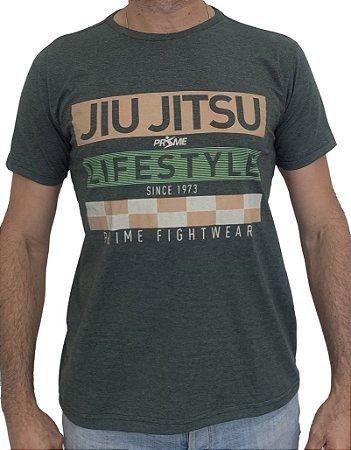 Camiseta T-Shirt JiuJitsu Life Style Verde