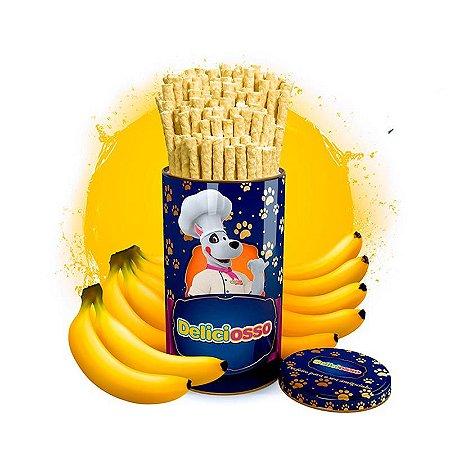 Osso Deliciosso sabor Banana - Palito Fino para Cães - 410g