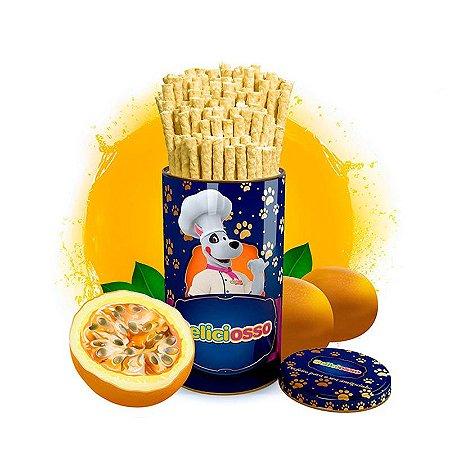 Osso Deliciosso sabor Maracujá - Palito Fino para Cães - 410g