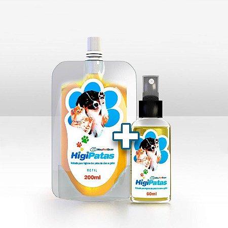 KIT Higipatas Spray 60ml + Refil 200ml - Para Cães e Gatos