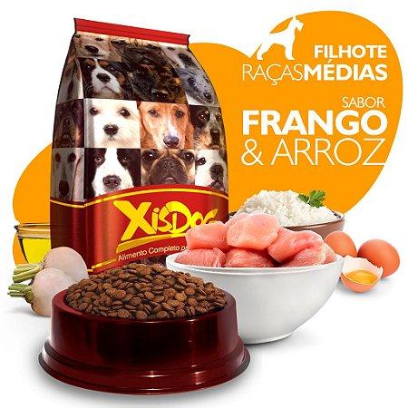 Alimento High Premium Completo - Xisdog - Filhote Raças Médias - Frango - Cada unidade = 1kg