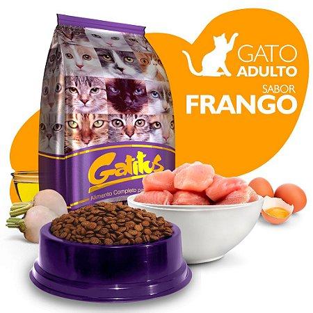 Alimento High Premium Completo Gatitus - Adulto - Frango - Cada unidade = 1kg