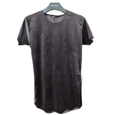 Camiseta Longline Teselli by Totanka Linha Premium Preta