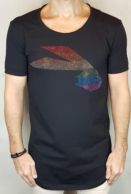 Camiseta Longline Teselli by Pargan Logo Preta