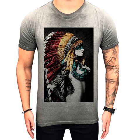 Camiseta Teselli by Paradise Native Cinza