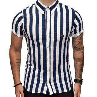 Camisa Teselli by Paradise Social Listras Azul