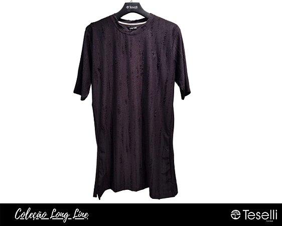 Camisa Long Line Totanka Riviet Preta Premium