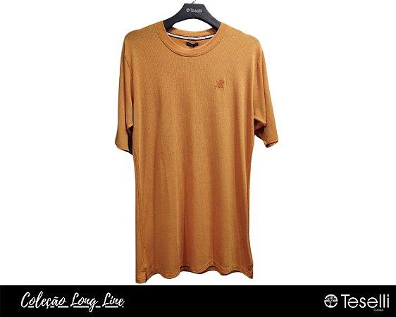 Camisa Long Line Totanka Riviet Laranja Premium