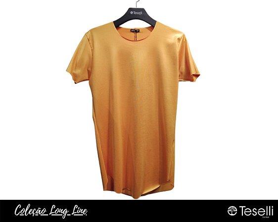 Camisa Long Line Totanka Canelada Mostarda Premium