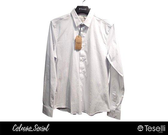 Camisa Social 60 fios King e Joe Branca com Elastano