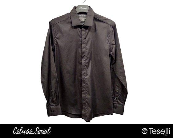 DUPLICADO - Camisa Social Algodão com Elastano Premium