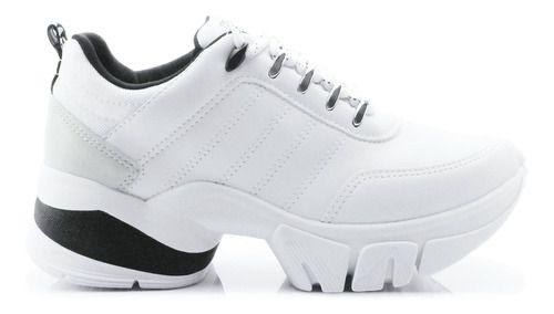 Tênis Ramarim Sneaker Be New Feminino Branco/preto 2080203