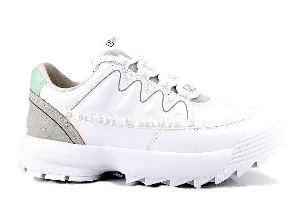 Tênis Ramarim Sneaker  Feminino Branco/Verde 2175102