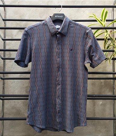 Camisa Listras Zip Off M/C Slim Fit 80039