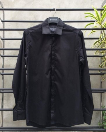 Camisa Social Teselli by Drazzo M/L Preta  110583