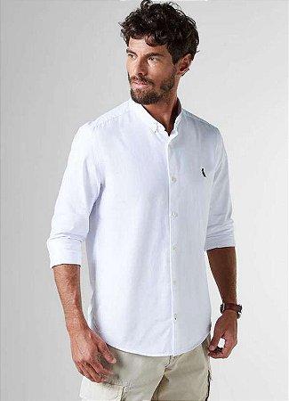 Camisa Sport Reserva Oxford M/L Color Branco 3574