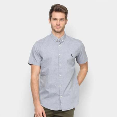 Camisa MF Reserva Oxford Color Preto 58783