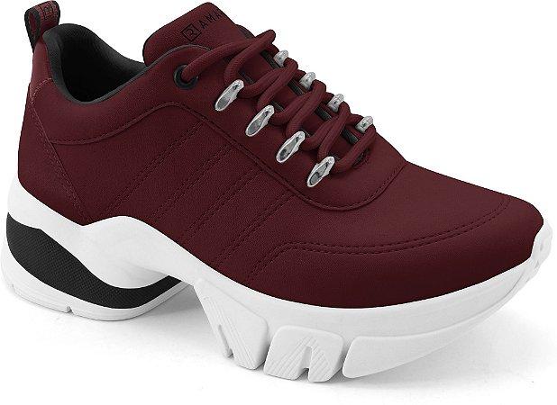 Tênis Ramarim Sneaker Be New Feminino Vinho  2180103