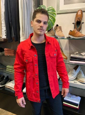 Jaqueta Austin Colors Vermelha 16643