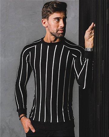 Suéter Arêdu Claw Algodão c/ Elastano Preto Premium