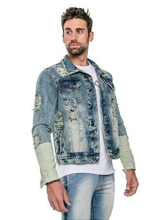 Jaqueta Jeans Destroyed Slim  Arêdu Premium