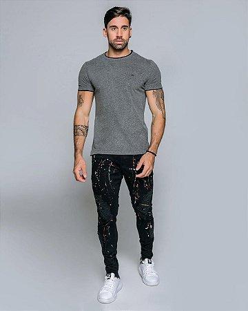 Camiseta T-Shirt Arêdu Mescla Algodão c/ Elastano Premium