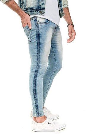 Calça Jeans Arêdu Skinny Free Lavagem Clara