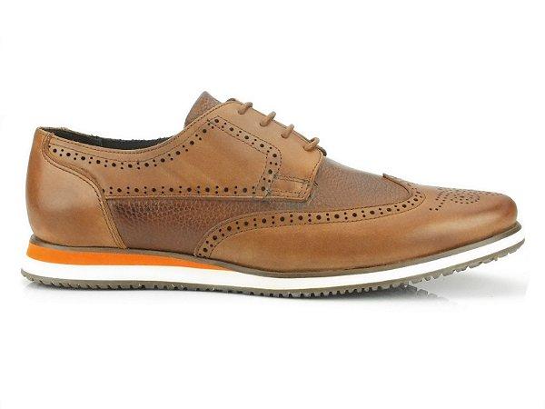 Sapato Brogue Teselli Jaipur Couro Whisky KSB13
