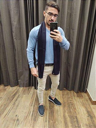 Suéter Teselli Novo Hamburgo Algodão Gola V Azul Bebê 21239