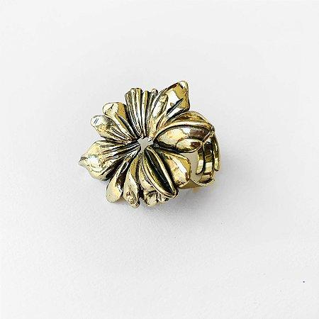 Anel flor Camelia Ouro Velho