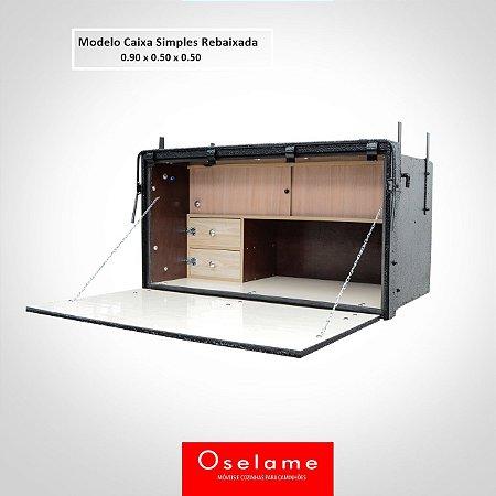 Caixa de cozinha 2 gavetas rebaixada