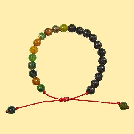 Pulseira Yin Yang Jaspe para Aromaterapia