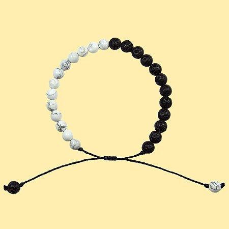 Pulseira Yin Yang para Aromaterapia