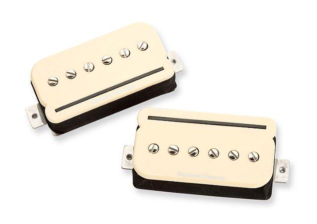 Captadores (Par) Guitarra SHPR-1s P-Rails Set,Creme