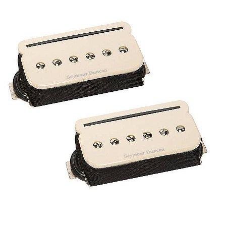 Captador Guitarra SHPR-1b P-Rails Bridge, Alnico 5, Ponte, 4 Condutores, Creme