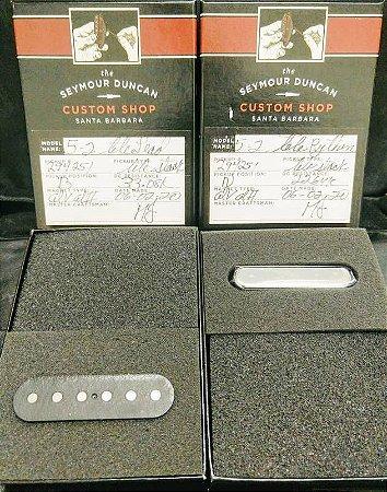 Captadores (Par) Guitarra Custom Shop Five-Two Tele Lead Stack, Alnico 5-2, Preto