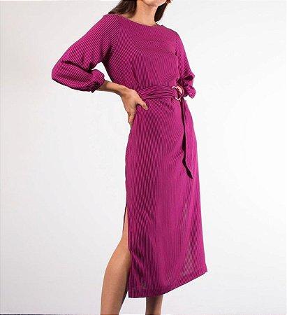 Vestido linda de morrer - rosa com detalhes