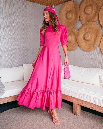 vestido anne fernandes pink