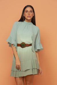 Vestido Anne Fernandes Verde Tie Dye