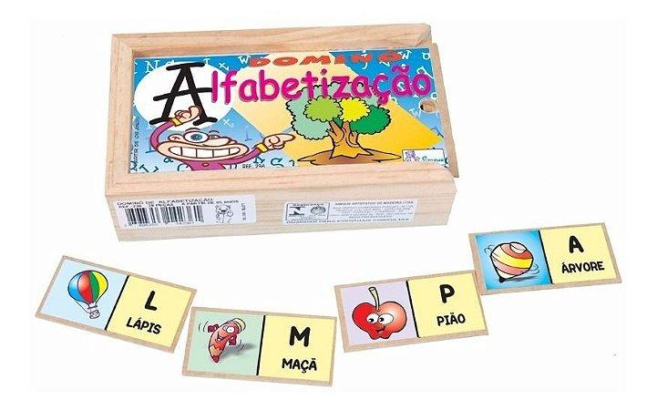 Brinquedo Educativo Domino Alfabetizaçao Pedagogico Simque