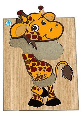 Super Quebra Cabeças de Madeira de Girafa Simque +3 Anos