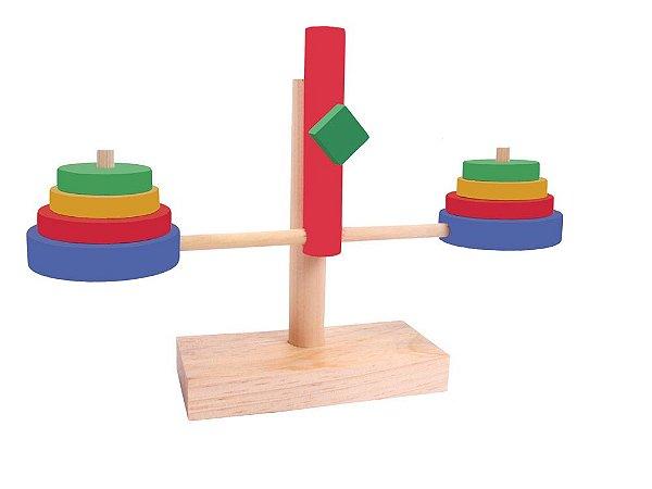 Balancinha de Madeira  Balança Simque +3 Anos